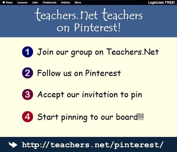 Join our Teachers.Net Pinterest Teachers Group!