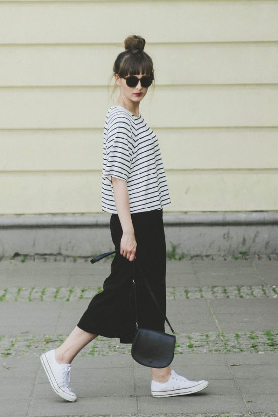 Breton, culottes and a top knot, yes!