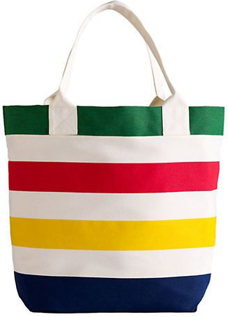 Hudson'S Bay Company Multi-Color Stripe Tote Bag // via Shop My Picks: Summer Totes // The Busy Girl's Shopping Companion #beach #bag