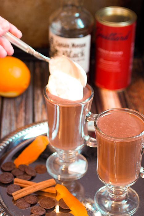 Orange Cinnamon Spiked Hot Chocolate #CaptainsTable | Recipe | Spiked ...