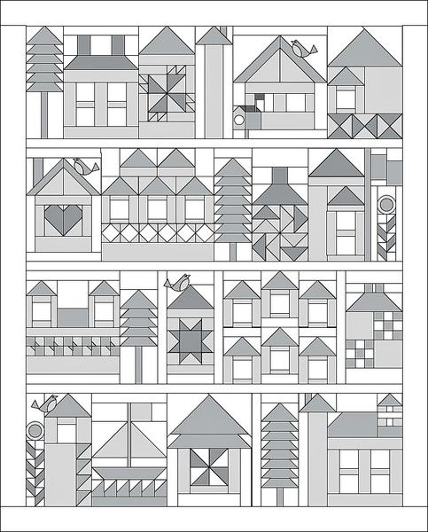 Setting Instructions for Moda Be My Neighbor Quilt 68 inches by 84 1/2 inches