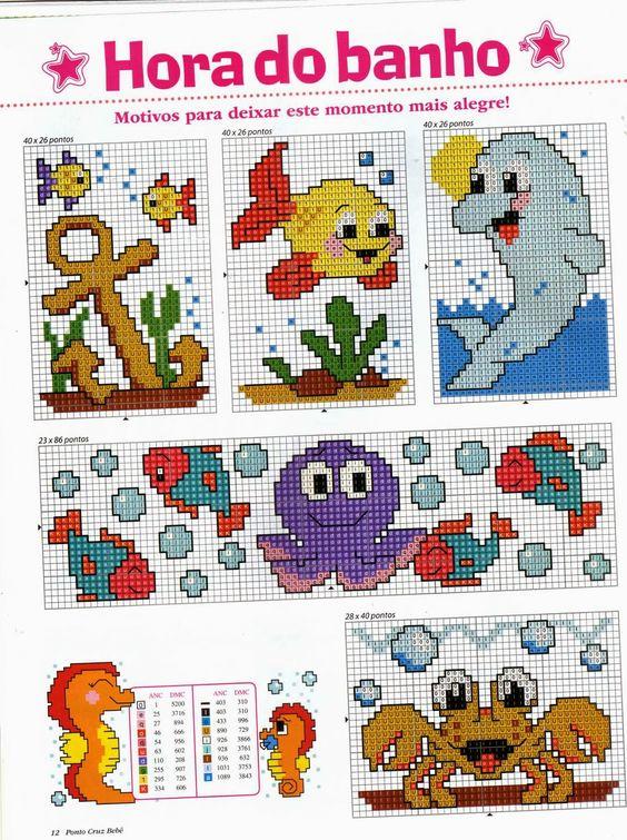 Revistas de manualidades gratis punto de cruz para bebes - Dibujos para hacer punto de cruz ...