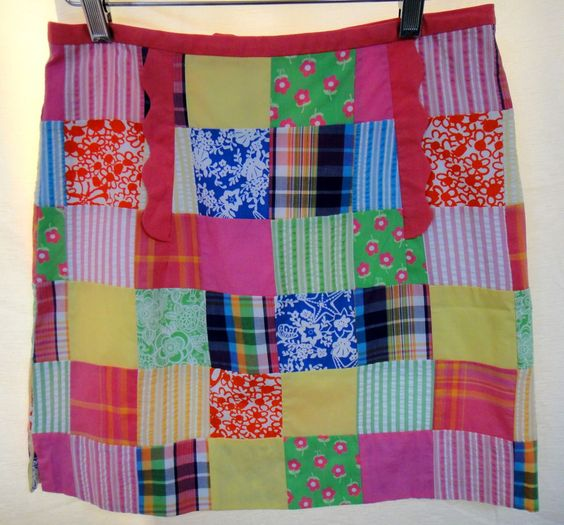 Lilly Pulitzer Patchwork Multi Fabric Quilt Print Fully Lined Short Skirt Sz 2  #LillyPulitzer #StraightPencil #Fashion #Style #Designer #Quilt #Patch #Summer #Spring