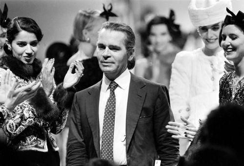 The Cifonelli Days. Karl Lagerfeld, 1984.