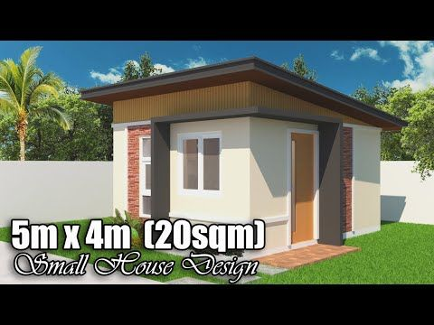 5m X 4m 20 Sq M Small House Design With 1 Bedroom Youtube Small House Design House Design Small House