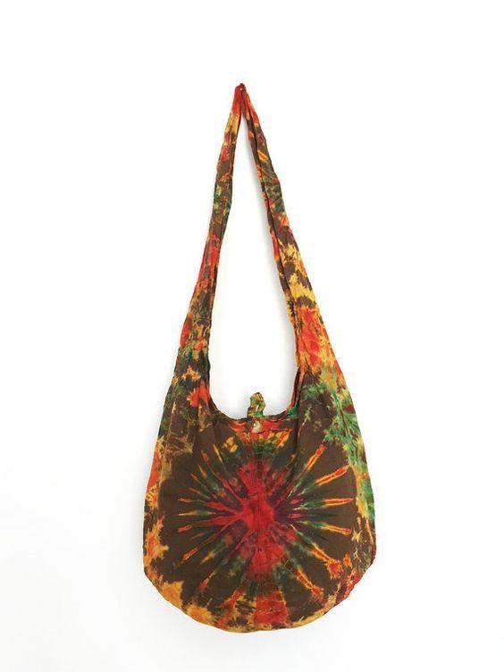 Tie dye bag shoulder bag crossbody sling bag by BestBagSShop