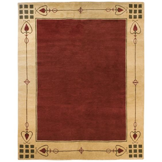 Stickley Rug, Highland Park Red - Painted floor cloth design? |Pinned from PinTo for iPad|