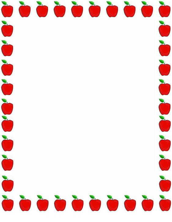 School Clip Art Borders – Printable Bordered Paper Designs Free