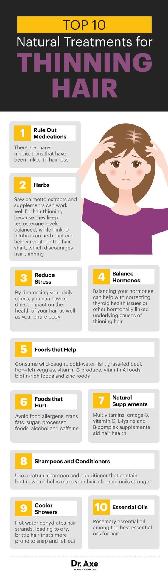 10 natural treatments for thinning hair - Dr. Axe http://www.draxe.com #health #holistic #natural: