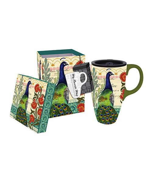 Another great find on #zulily! Proud Peacock Latte Travel Mug by Cypress Home #zulilyfinds