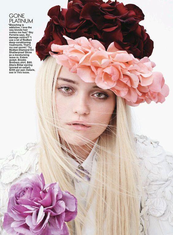 The floral crown is totally back.: Teen Vogue, Sky Ferreira, Ferreira Teen, 2014Photographer Josh, Flower Hair Accessories, Fashion Photography, Teenvogue Sky