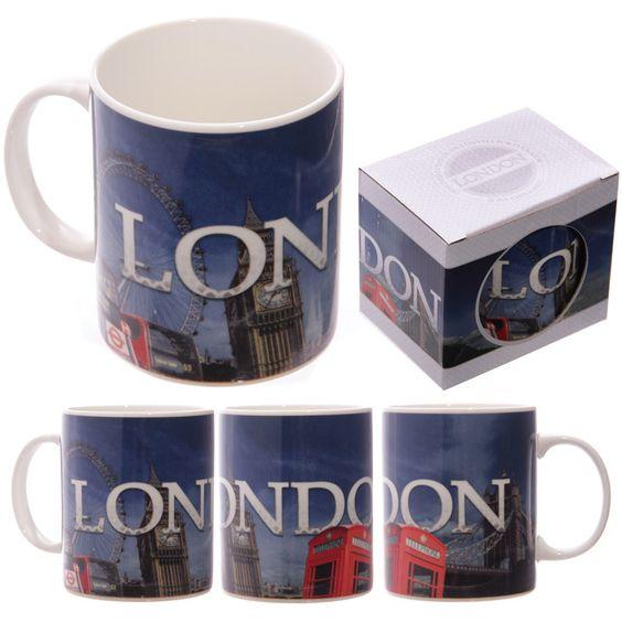 Ted Smith London Montage Bone China Mug