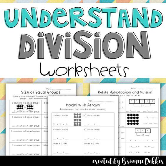 Understand Division Worksheets - Third Grade GoMath
