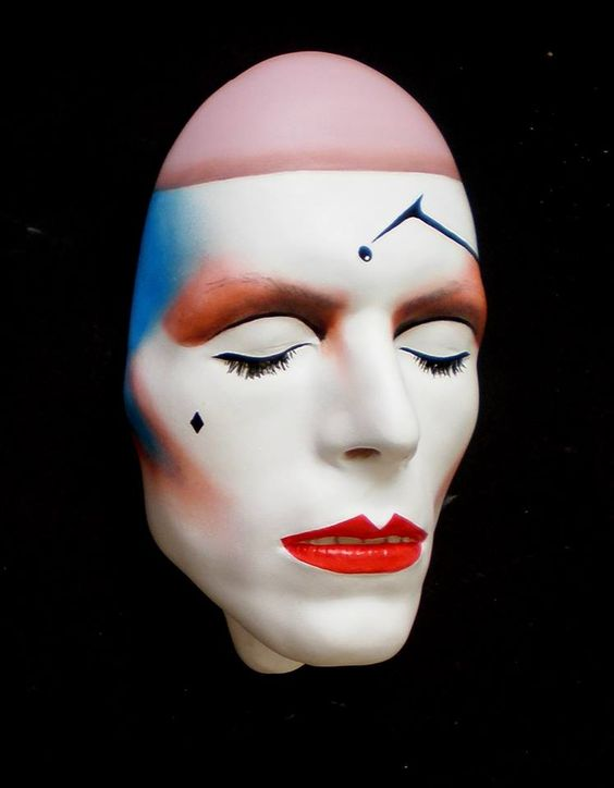 David Bowie Mask Pierrot the Clown mask by Mark Wardel