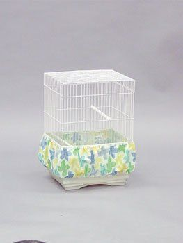 $8.60-$8.60 Parakeet Birdie Bloomer - Print - The easy way to eliminate bird mess.  With the Birdie Bloomer Seed Guard, bird owners can have cleaner, healthier environments around the bird cage while getting rid of unwanted bird mess.  Birdie Bloomers are made from high quality, decorative fabrics in prints, solids, and lite nylon mesh styles.  They are completely washable and designed to fit rou ...