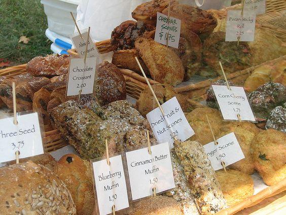 FARMERS MARKET BAKED GOODS DISPLAY | Bread Euphoria baked goods at the Ashfield Farmers Market | Flickr ...