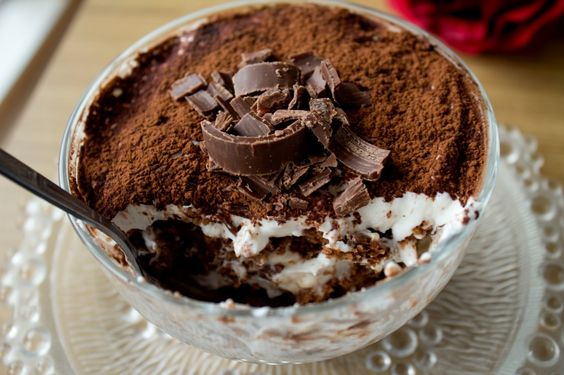 Fast no-baking healthier version tiramisu for coffee lovers On the blog today: fast no-baking healthier version tiramisu. #recipe #coffeedessert #healthydessert #dessert #tiramisu #homemade Please support by liking FB page www.facebook.com/hayfaglam