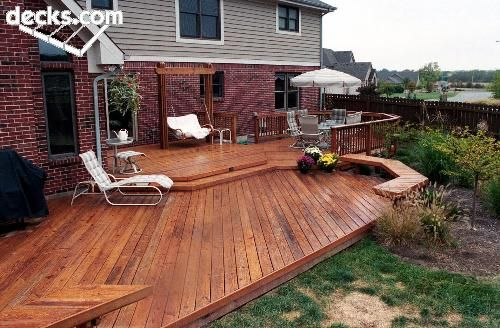 Low elevation deck picture gallery deck ideas for Low elevation deck plans