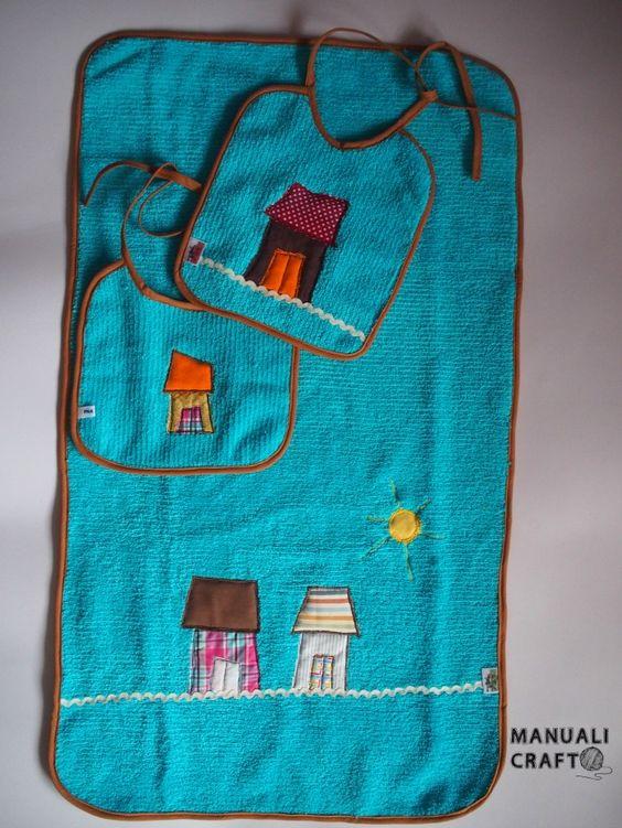 Toalla y baberos-Manualicraft - Amigurumi, scrap y costura creativa
