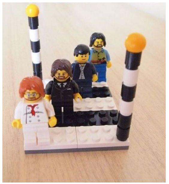 Die Beatles Figuren Abbey Road Album-Cover die individuelle