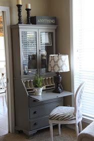 repainted secretary desk