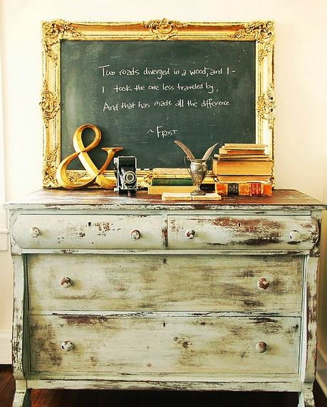 I love the poem by R. Frost, but I love what is on this table too:) Always on the lookout for creative ways to adorn my tables:)