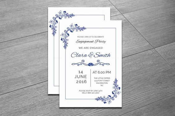 20+ Engagement Invitation Template Word, InDesign and PSD Format - engagement invite templates
