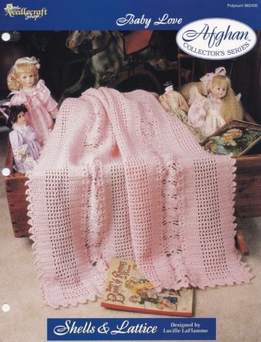 Shells-Lattice-The-Needlecraft-Shop-Afghan-Crochet-Pattern-Leaflet-962400-NEW