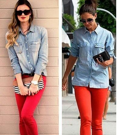 Como Combinar Un Pantalon Rojo Pantalon Rojo Mujer Pantalones Rojos Outfit Pantalon Rojo Mujer