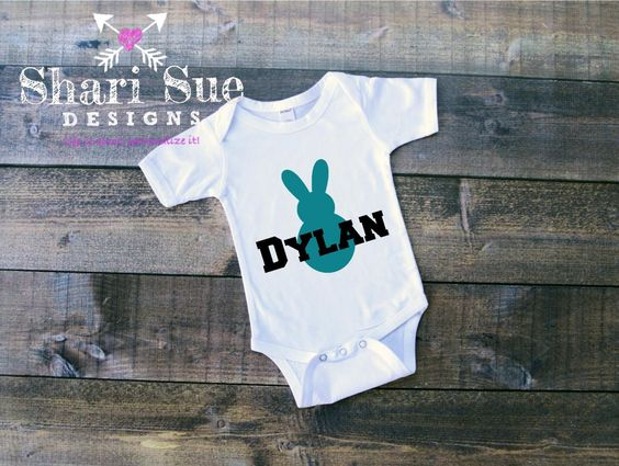 Personalized Bunny Onesie by ShariSueDesigns on Etsy