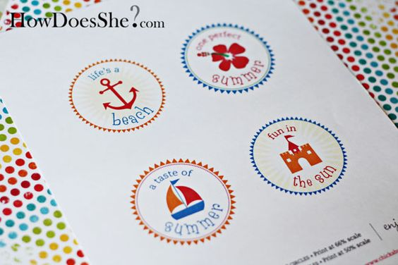 FREE!! Chickabug summer printables at How Does She on http://www.chickabug.com/blog