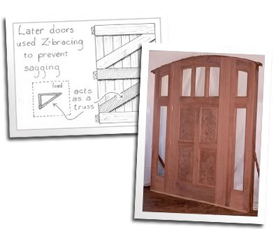 Z Braced Door And Victorian Stile And Rail 1890 39 S Trim