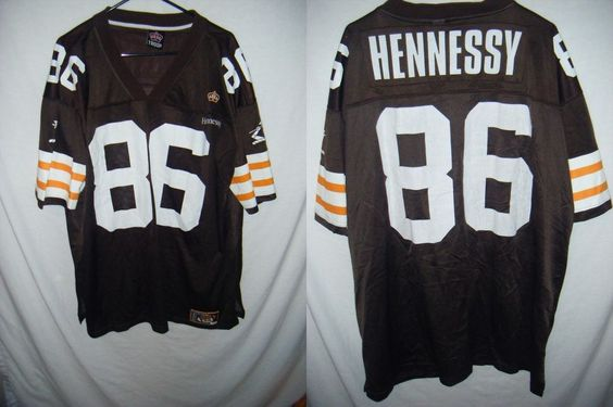 NFL Jerseys Online - VTG HENNESSY men's XXL football jersey USA made Cleveland Browns ...