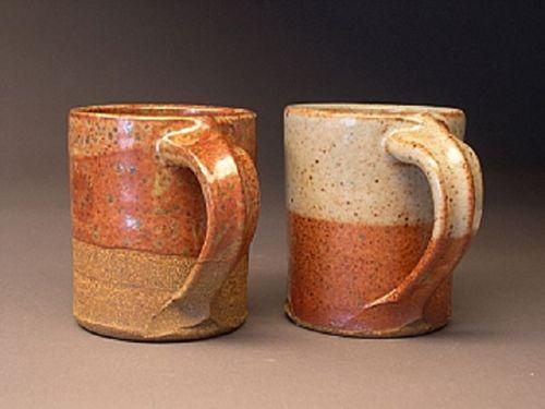 stoneware w/2 different Shino glaze executions - Allen Buitekant Pottery
