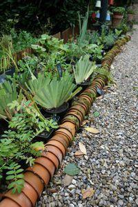 Délimiter les plates-bandes entrée jardin
