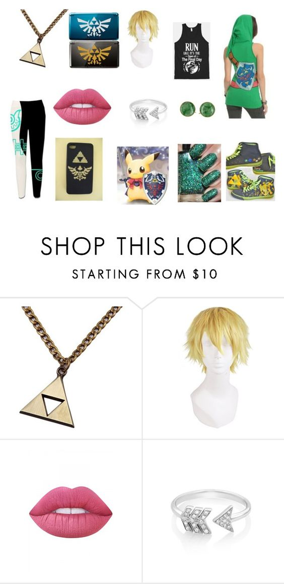"""LoZ Fans"" by cinyejene-1 ❤ liked on Polyvore featuring Gildan, Lime Crime and EF Collection"