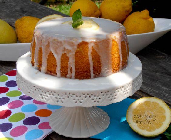 7gramas de ternura: Bolo de Limão com Cobertura de Glacê