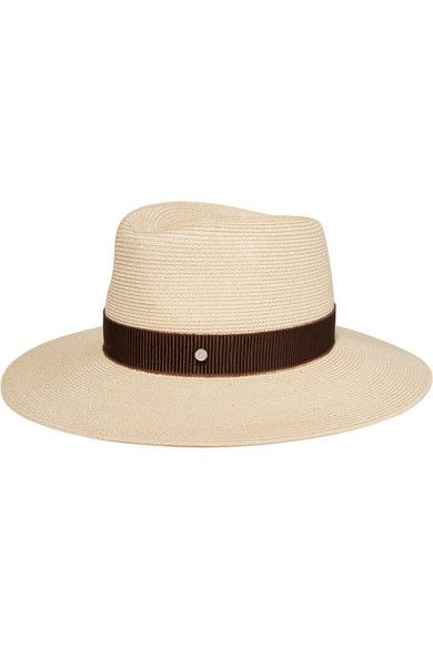 All Maison Michel's hats are handcrafted in France using traditional artisan techniques. Woven from lightweight and breathable hemp, this classic 'Charles' fedora is finished with a lustrous chocolate grosgrain ribbon and a comfortable internal brow band. Wear yours on sunny days.