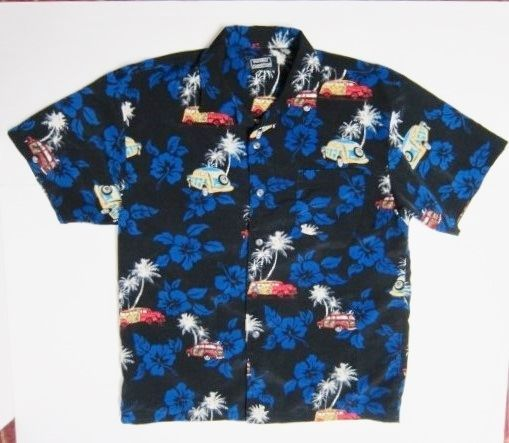 Woodies Palm Trees Hibiscus Hawaiian Aloha Shirt Youth XL Pineapple Connection #PineappleConnection #Everyday