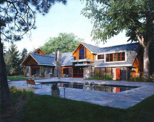 Strange Modern Country House Stones Hybrid Timber Frame Compound Inspirational Interior Design Netriciaus