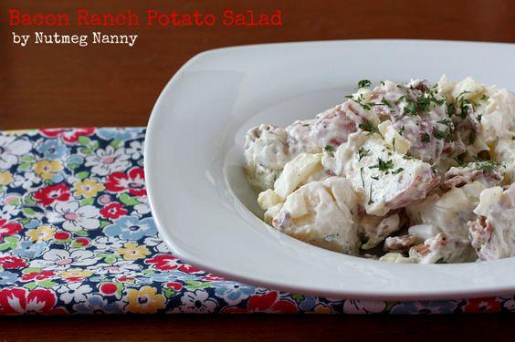 Bacon Ranch Potato Salad by Nutmeg Nanny