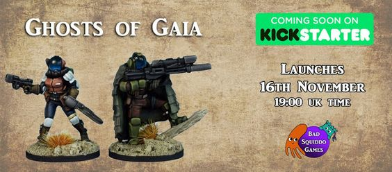 Wargame News and Terrain: Bad Squiddo Games: Post Apocalyptic Female Ghosts of Gaia Kickstarter