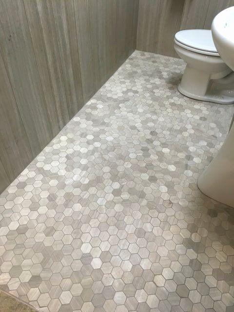 Bathroom With Chair Rail Elegant Gray Hexagon Tile Inspirational Download 6 Luxury Chair Rail Tile