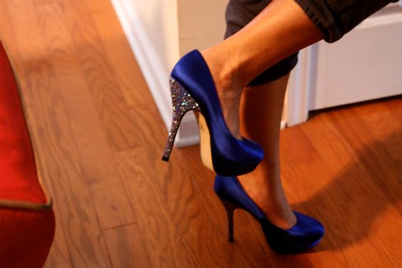 Steve Madden. Party Blue Heels.