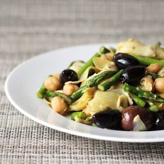 Artichoke, Asparagus, and Garbanzo Salad with Buddha's Hand by cookistry