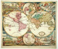 Antique carey 1835 world map mapes antics pinterest online double hemisphere world map large build online jigsaw gumiabroncs Gallery