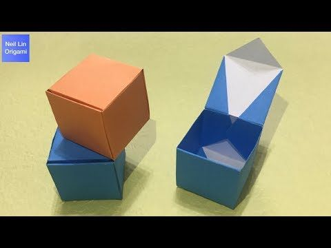 Origami - Box, Container, Bowl (Tutorial, How to) - YouTube | 360x480