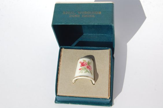VINTAGE Royal Worcester Thimble Bone China in by REDceramics, £6.00
