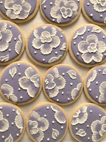 Brush embroidery (done with royal icing) cookies! So beautiful!