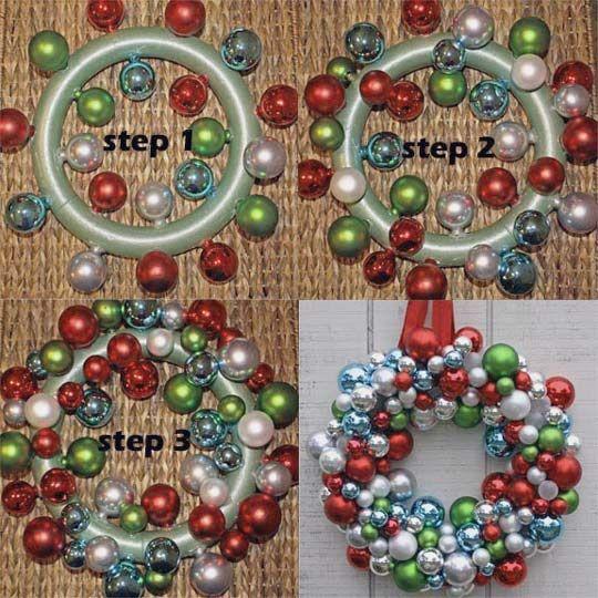 Diy ornament wreath christmas ornament xmas and make for Family christmas ornaments to make